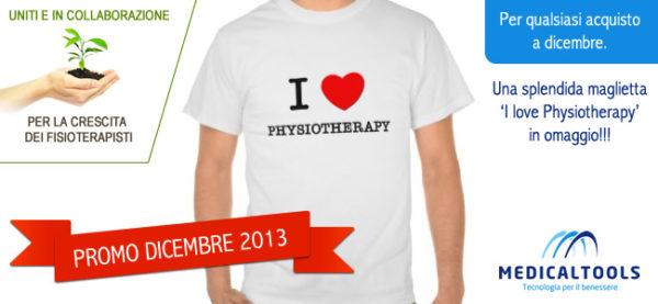 [PROMO] Per qualsiasi acquisto a dicembre 2013 una fantastica t-shirt 'I love Physiotherapy'