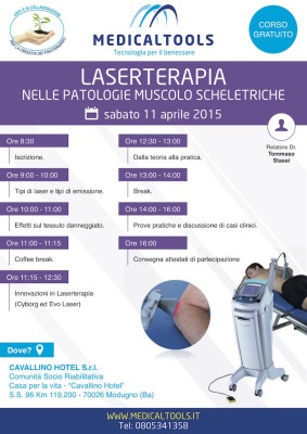 Corso – Laserterapia nelle patologie muscolo scheletriche – Modugno 11 aprile 2015 – Gratuito