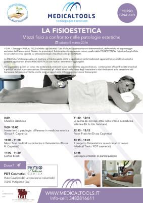 Corso - La Fisioestetica - Mezzi fisici a confronto nelle patologie estetiche - Putignano (BA) 5 marzo 2016 - Gratuito