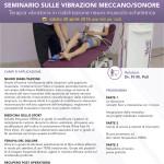 Corso - Seminario sulle Vibrazioni Meccano/sonore - Terapia vibratoria in riabilitazione neuro-muscolo-scheletrica - Bari 2016 - Gratuito