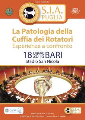 Corso - La Patologia della Cuffia dei Rotatori, esperienze a confronto - Bari 2016 - Gratuito