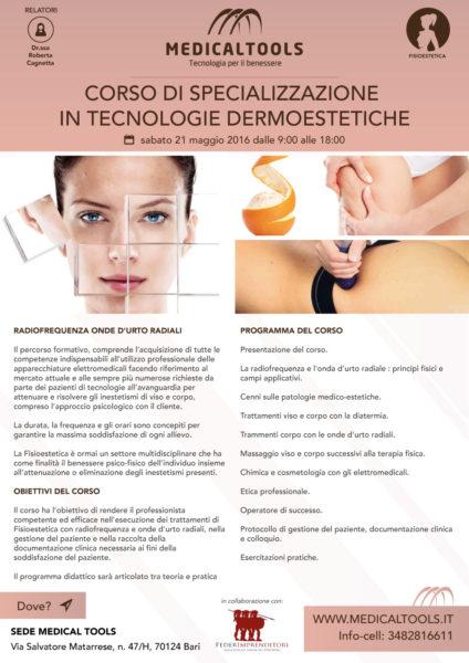 Corso - Specializzazione in tecnologie Dermoestetiche - Bari 2016