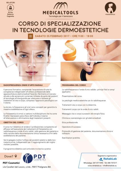 Corso - Specializzazione in tecnologie Dermoestetiche - Bari 2017