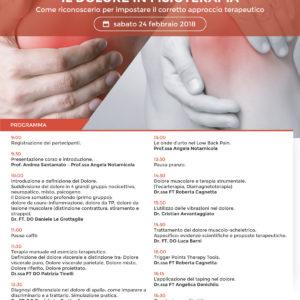 Corso - Il dolore in Fisioterapia - Come riconoscerlo per la corretta terapia - Bari (Stadio San Nicola) 24 febbraio 2018 – Gratuito