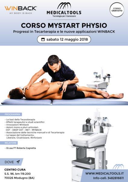 Corso - MyStart Physio - Progressi in Tecarterapia e le nuove applicazioni WINBACK - Bari 12 maggio 2018 - Gratuito