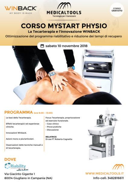 Corso - MyStart Physio - Ottimizzazione programma riabilitativo e riduzione tempi di recupero  - Giugliano in Campania 10 novembre 2018 - Gratuito
