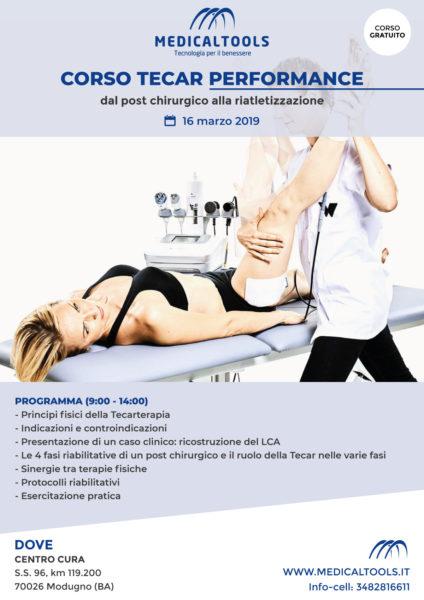 Corso - TECAR Performance - dal post chirurgico alla riatletizzazione - Modugno (BA) 16 marzo 2019 - Gratuito